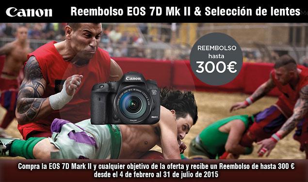 AMPLIADO HASTA 31 DE ENERO 2016. Reembolso de hasta 300 €. EOS 7D Mark II y objetivos