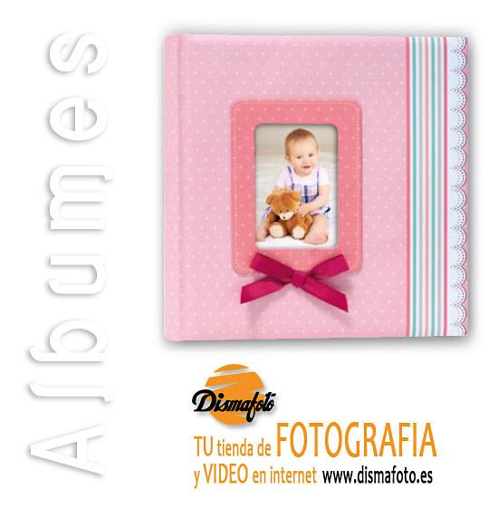 ALBUM M. INFANTIL LAZO ROSA 24X24X20
