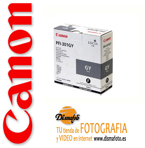CANON CART.TINTA PFI-301 GRIS 330ML