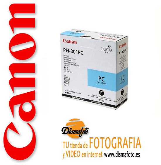CANON CART.TINTA PFI-301 PHOTO CYAN 330ML PC