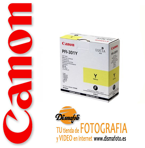 CANON CART.TINTA PFI-301 YELLOW 330ML