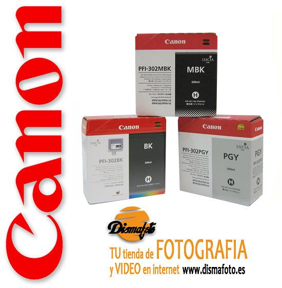CANON CART.TINTA PFI-302 BLACK 330ML