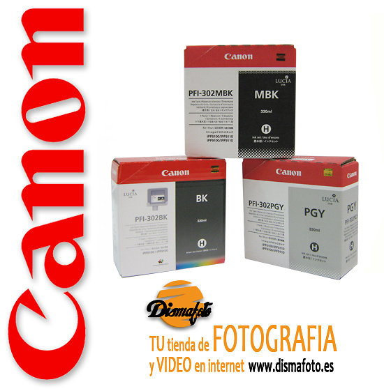 CANON CART.TINTA PFI-302 MATTE BLACK 330ML MBK