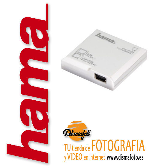 HAMA LECTOR DIGITAL SD EN 1 BLANCO