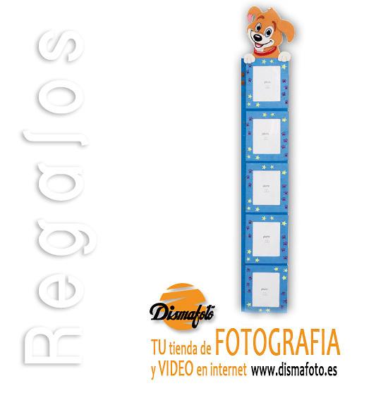 M. PORTAFOTO MEDIDOR TEXTIL PERRO (5) 10X15 CM