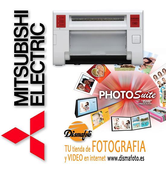 MITSUBISHI IMPRESORA CP-D80DW-S+ PHOTOSUITE STUDIO +CABLE USB