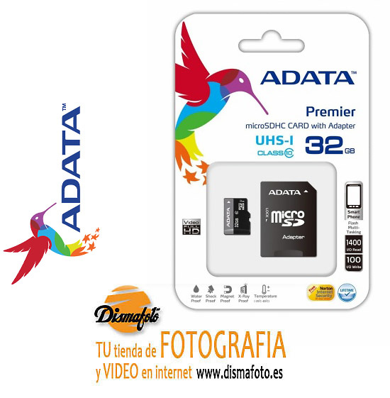 ADATA T. MICRO SD XC UHS-I 32GB CLASE 10 100 MB/S