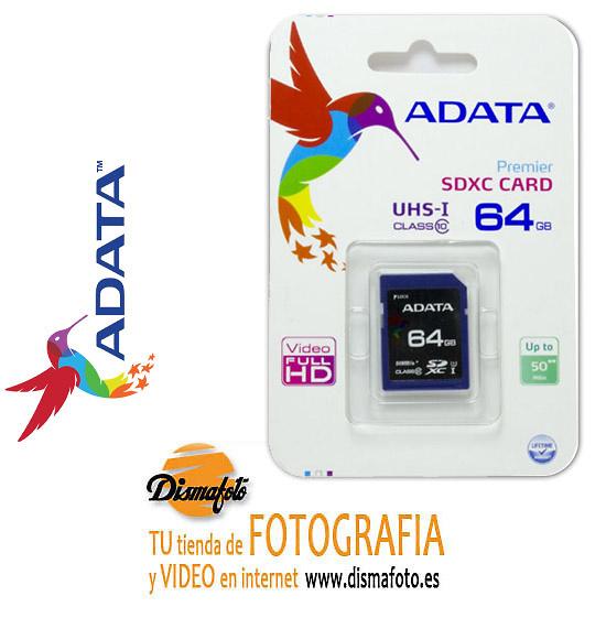 ADATA T. SD XC 64GB CLASE 10 50MB/S