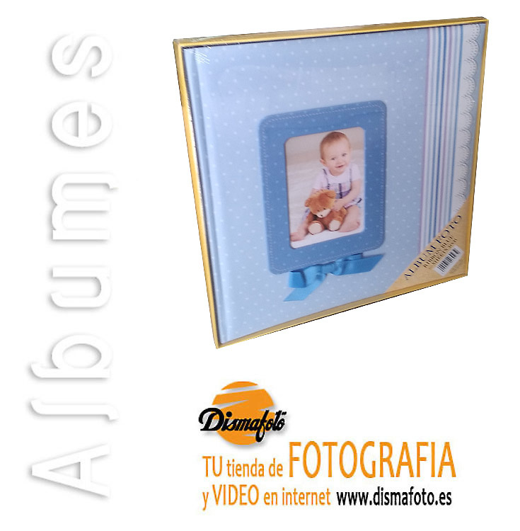 ALBUM M. INFANTIL LAZO AZUL 31X31X30