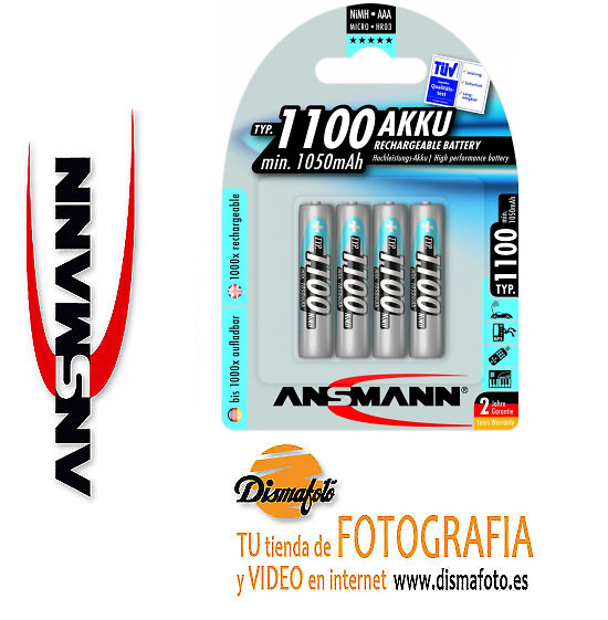 ANSMANN ACUM.LR-03 1100MAH (B4)+ECO