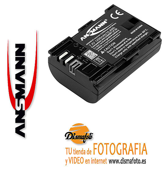 ANSMANN BAT. LI-ION P/CANON LP-E6 + ECO