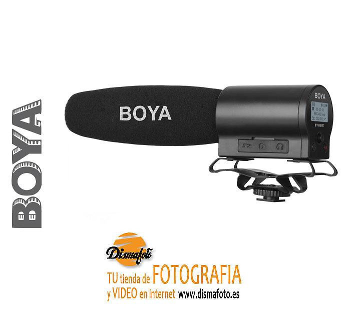 BOYA MICROFONO DE CAÑON GRABADOR BY-DMR7