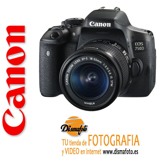 CANON CAM. D. EOS 750D CUERPO+ OBJETIVO8 18-55 IS