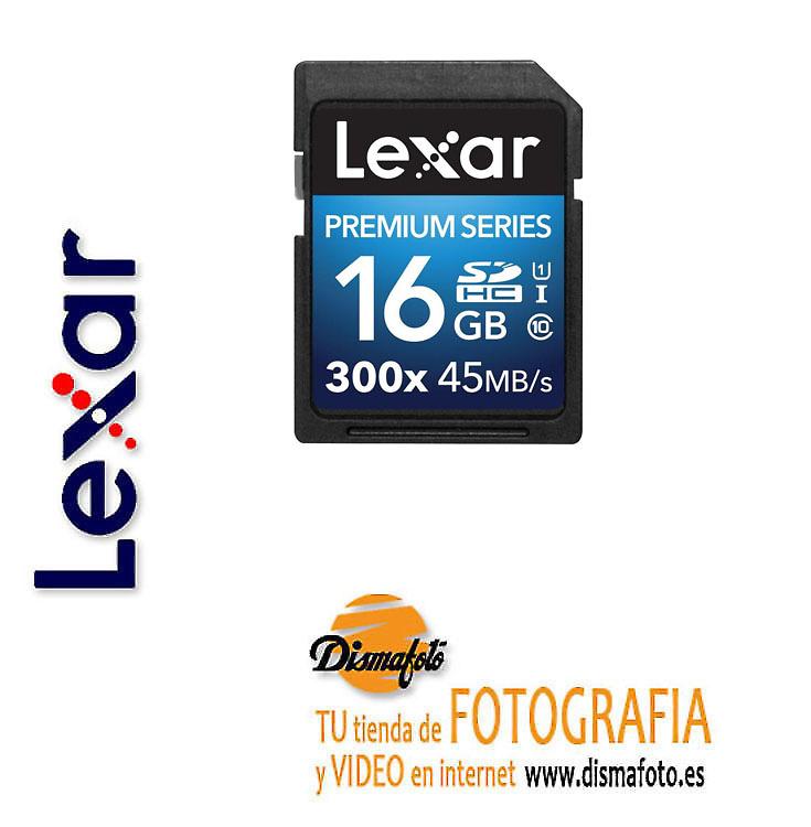 LEXAR TARJETA SDHC 16GB 300X CLASS 10 PREMIUM II