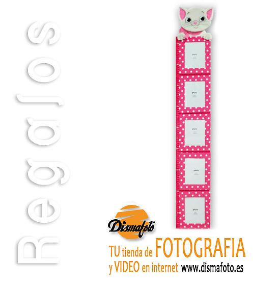 M. PORTAFOTO MEDIDOR TEXTIL GATO ROSA (5) 10X15 CM