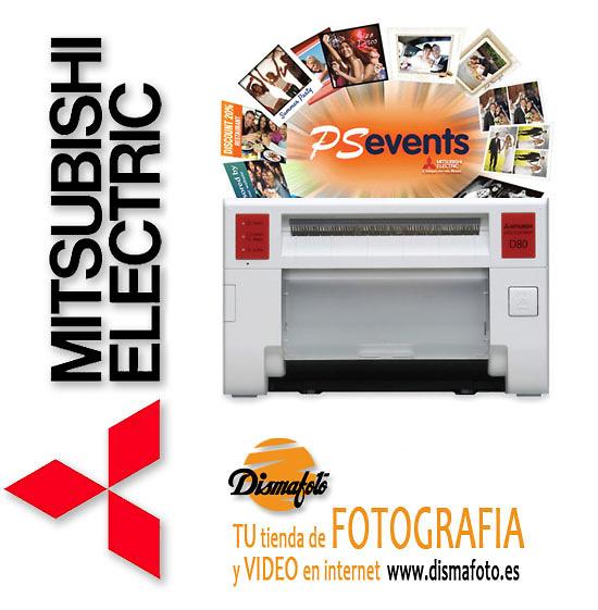MITSUBISHI IMPRESORA CP-D80DW-S+ PHOTOSUITE EVENTS +CABLE USB