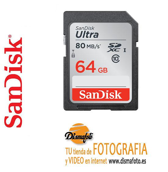 SANDISK T.SDXC 64GB ULTRA (80MB/S) SDCX