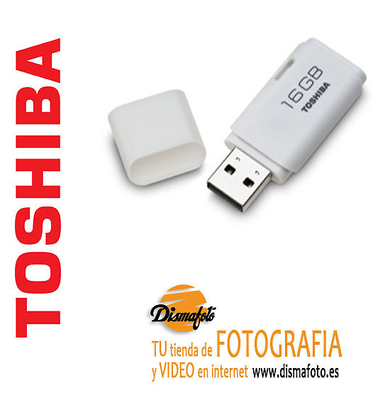 TOSHIVA PEN DRIVE USB 16GB BLANCO