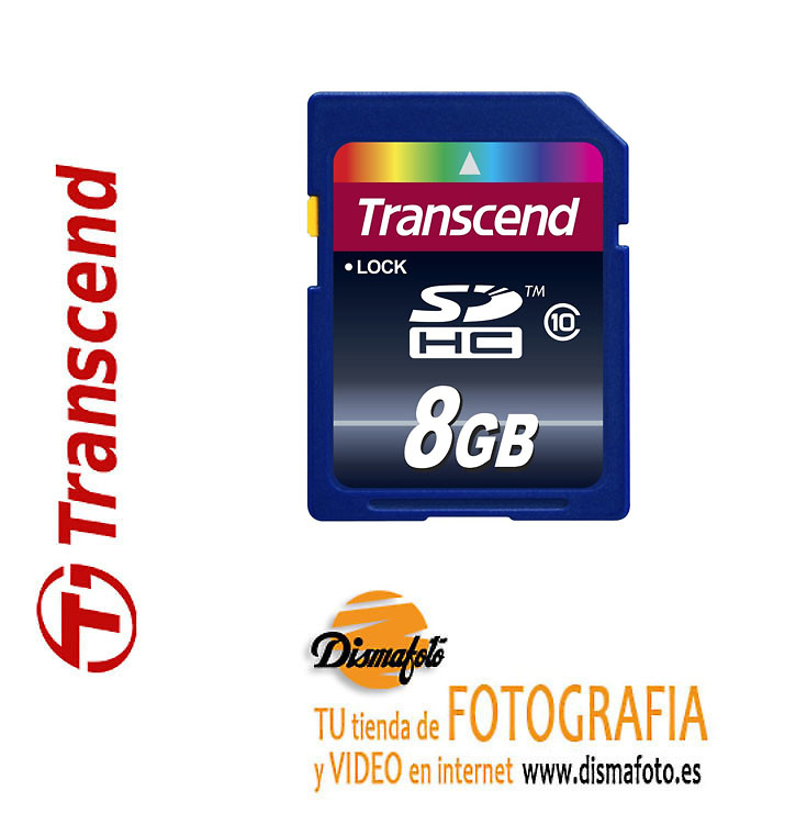 TRANSCEND T.SDHC 8 GB CLASS 10 20 MB/S