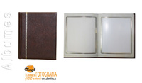 ALBUM OUTLET CLASICOS PASSEPARTOUT MARRON TIRILLA 20X25 30H