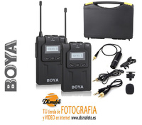 BOYA KIT MICROFONO INALAMBRICO UHF BY-WM6