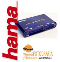 HAMA LECTOR 35 EN 1 USB 2.0 AZUL