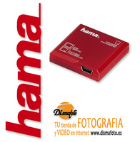HAMA LECTOR DIGITAL SD EN 1 ROJO