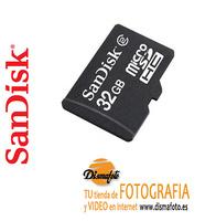 SANDISK T.MICRO SDHC 32 GB CLASE 4+ ADAPTADOR P/CAMARA DIGITAL