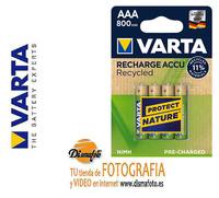 VARTA PILA LR-03 RECARGABLE 800 MAH (B4)+ECO