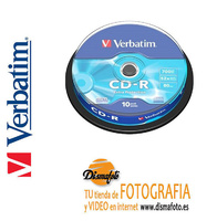 VERBATIM TARRINA CD-R 80MIN 52X 700MB (10U)